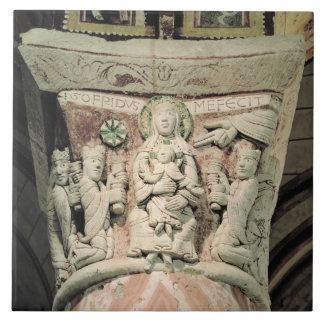 The Adoration of the Magi, column capital (stone) Tile