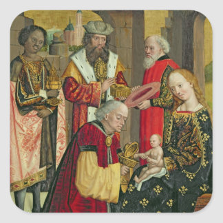 The Adoration of the Magi, from the Dome Altar Square Sticker