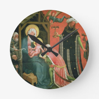 The Adoration of the Magi (oil on panel) Round Clock