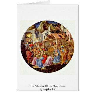 The Adoration Of The Magi, Tondo By Angelico Fra Card
