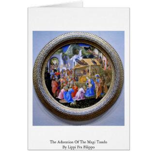 The Adoration Of The Magi TondoBy Lippi Fra Filipo Card