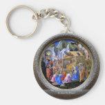 The Adoration Of The Magi TondoBy Lippi Fra Filipo Key Chains