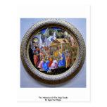 The Adoration Of The Magi TondoBy Lippi Fra Filipo Postcards