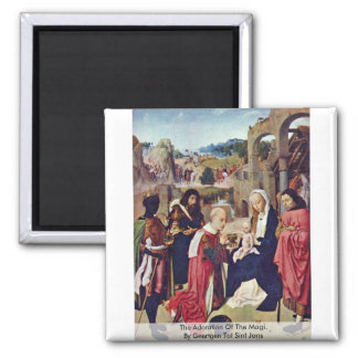 The Adoration Of The MagiBy Geertgen Tot Sint Jans Refrigerator Magnets
