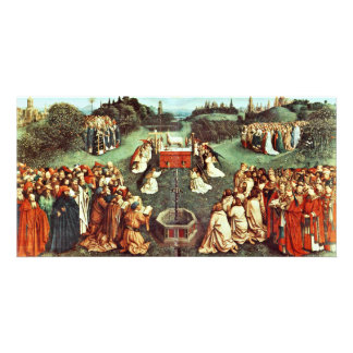 The Adoration Of The Mystical Lamb By Eyck Hubert Photo Cards