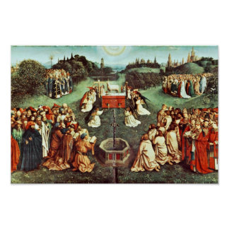 The Adoration Of The Mystical Lamb By Eyck Hubert Poster