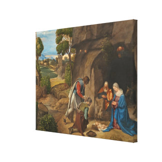 The Adoration of the Shepherds, 1505-10 Canvas Print