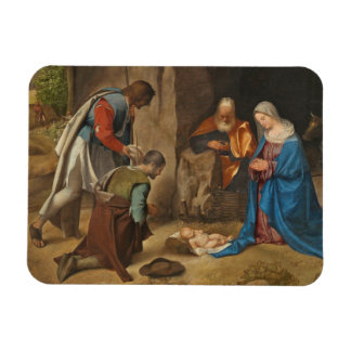 The Adoration of the Shepherds, 1505-10 Rectangular Photo Magnet