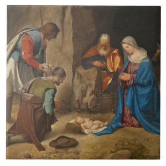 The Adoration of the Shepherds, 1505-10 Tile
