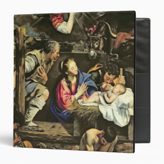 The Adoration of the Shepherds, 1612 (oil on canva 3 Ring Binder