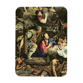The Adoration of the Shepherds, 1612 (oil on canva Magnet