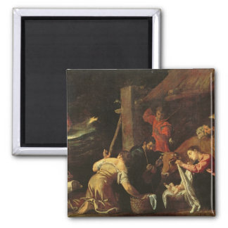 The Adoration of the Shepherds 2 2 Inch Square Magnet