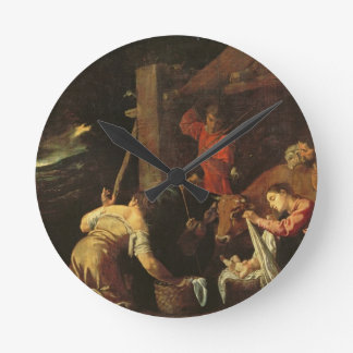The Adoration of the Shepherds 2 Round Clock