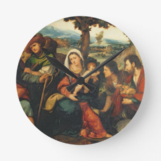 The Adoration of the Shepherds 3 Round Clock