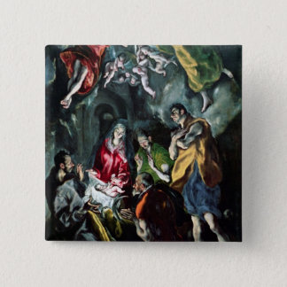 The Adoration of the Shepherds Button