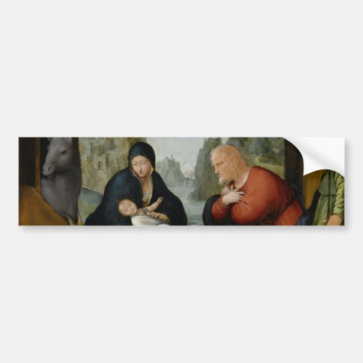 The Adoration of the Shepherds by Bartolomeo Bumper Sticker