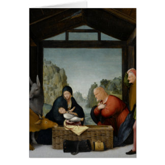 The Adoration of the Shepherds by Bartolomeo Greeting Card