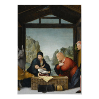 The Adoration of the Shepherds by Bartolomeo 5x7 Paper Invitation Card