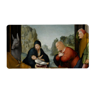 The Adoration of the Shepherds by Bartolomeo Personalized Shipping Labels