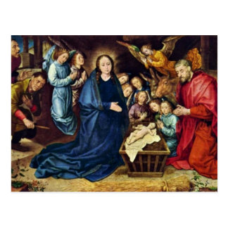 The Adoration Of The Shepherds By Goes Hugo Van De Post Card