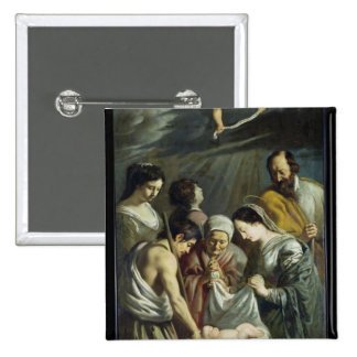 The Adoration of the Shepherds, c.1630-32 Pinback Buttons