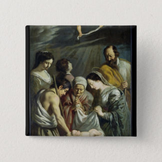 The Adoration of the Shepherds, c.1630-32 Pinback Button