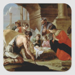 The Adoration of the Shepherds, c.1638 Square Sticker