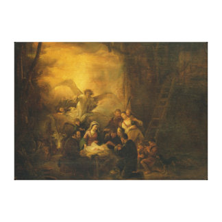 The Adoration of the Shepherds, c.1650 Canvas Print