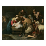The Adoration of the Shepherds, c.1650 Posters