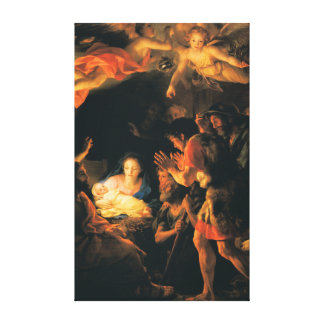 The Adoration of the Shepherds Canvas Print