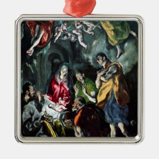 The Adoration of the Shepherds Metal Ornament
