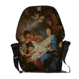 The Adoration of the Shepherds (oil on canvas) 2 Messenger Bags
