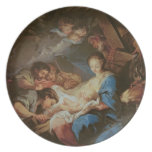 The Adoration of the Shepherds (oil on canvas) 2 Dinner Plate