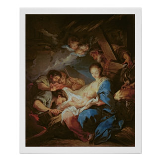 The Adoration of the Shepherds (oil on canvas) 2 Poster