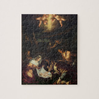 The Adoration of the Shepherds (oil on canvas) Jigsaw Puzzle