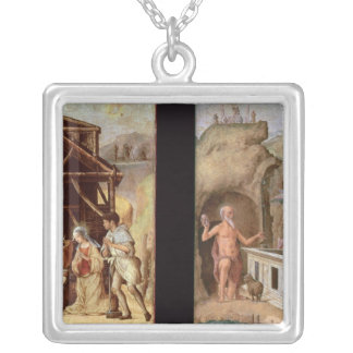 The Adoration of the Shepherds Square Pendant Necklace