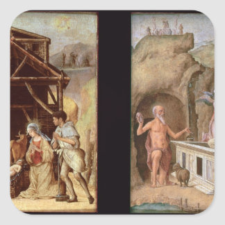 The Adoration of the Shepherds Square Sticker