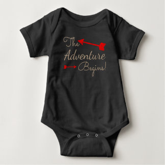 The Adventure Begins Baby Boy Shirts