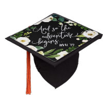 The Adventure Begins   Custom Class Year Graduation Cap Topper