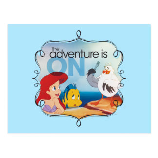 The Adventure Is On Postcard