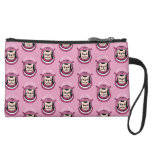 The adventure of a cute Frenchie spaceman Suede Wristlet