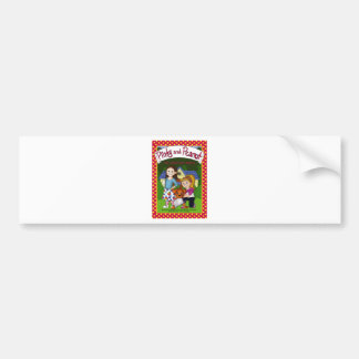 The Adventure of Pinky and Peanut Car Bumper Sticker