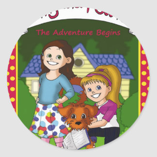 The Adventure of Pinky and Peanut Classic Round Sticker