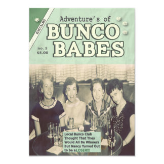 The Adventures of Bunco Babes Edition #2 5x7 Paper Invitation Card