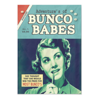 The Adventures of Bunco Babes 5x7 Paper Invitation Card