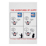 The Adventures of Clippy Part 2 Print