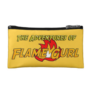 The Adventures of Flame Gurl Cosmetic Bag