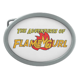 The Adventures of Flame Gurl Oval Belt Buckle