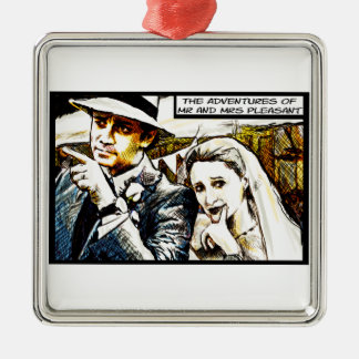 The Adventures of Mr and Mrs Pleasant Christmas Ornament