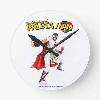 The Adventures of Paleta Man Clock